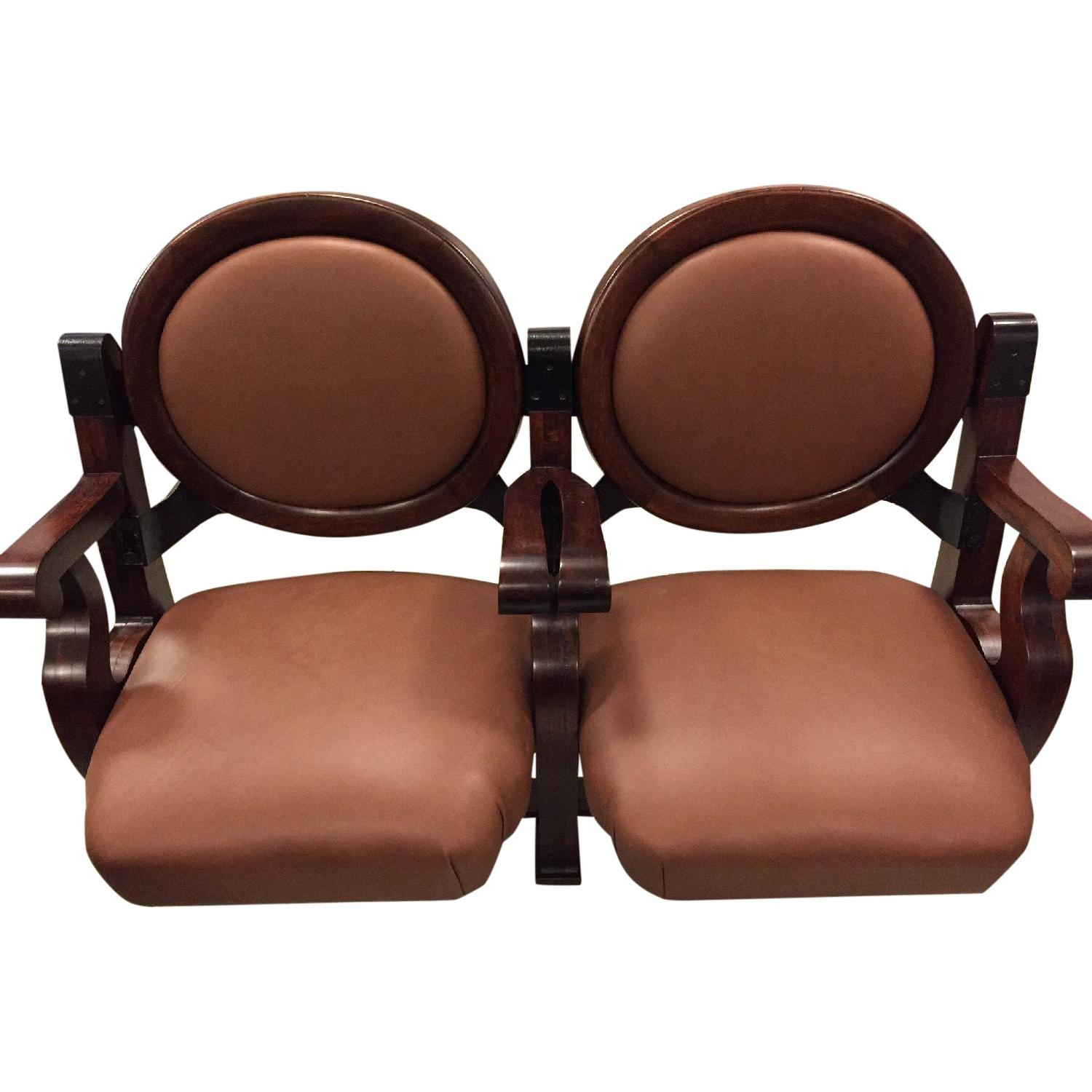 Vintage Double Theater Seat - image-0
