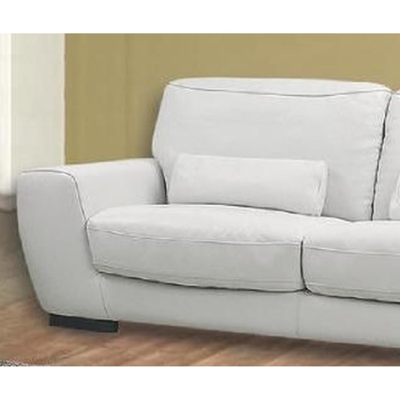 BH Design Beige Loveseat in Premium Italian Leather - image-3