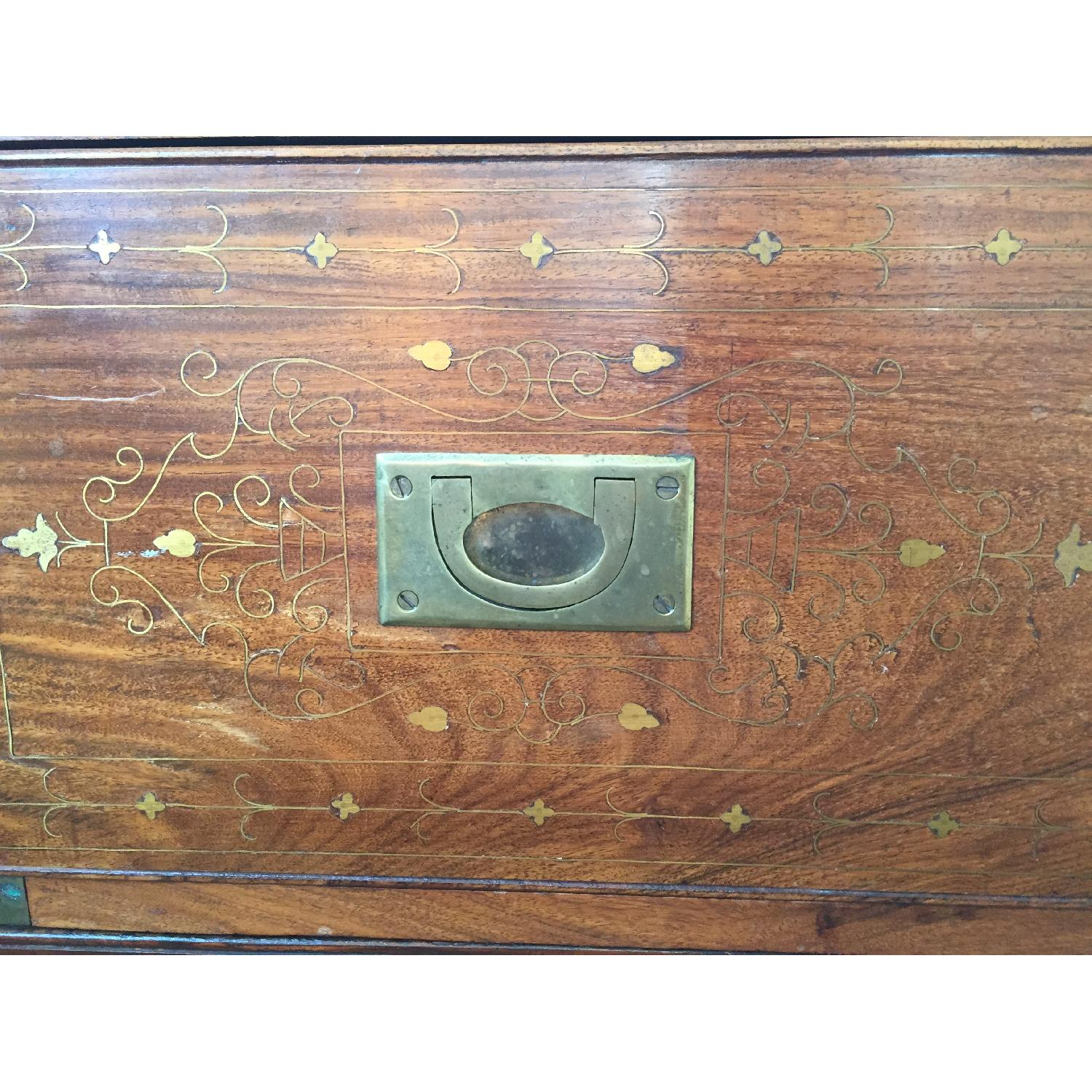 Small Antique Inlaid Chest of Drawers - image-3