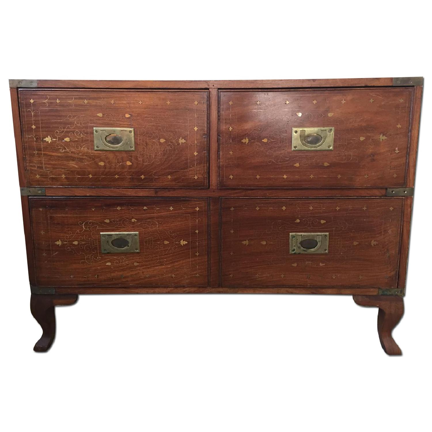 Small Antique Inlaid Chest of Drawers - image-0