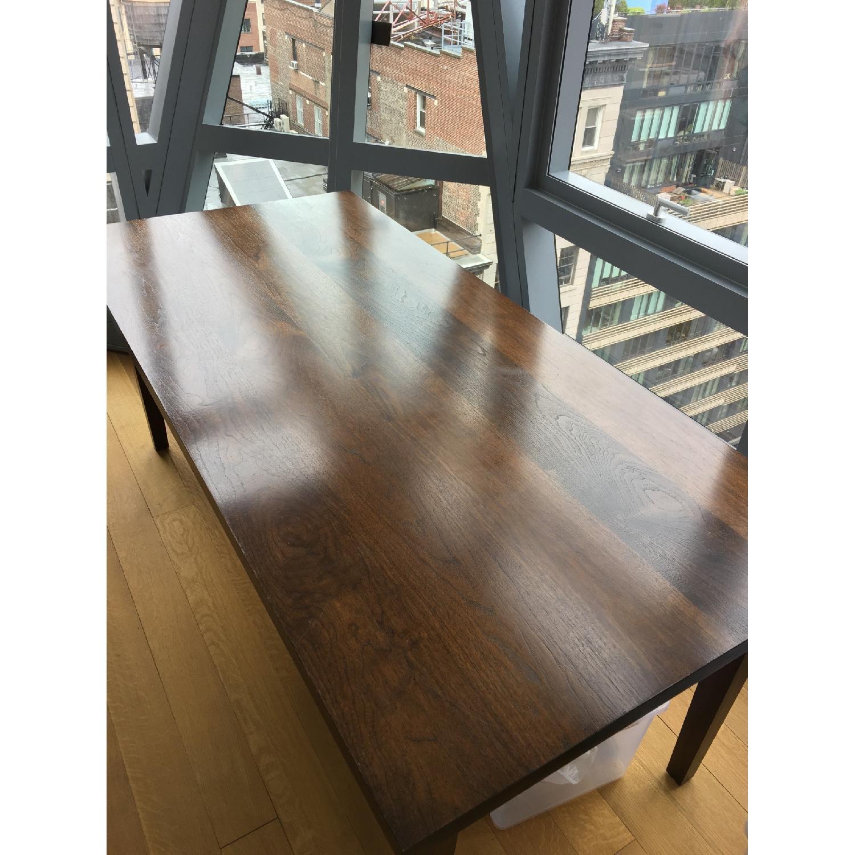 Custom Stephen Iino Solid American Black Walnut Dining Table w/ Bench - image-1