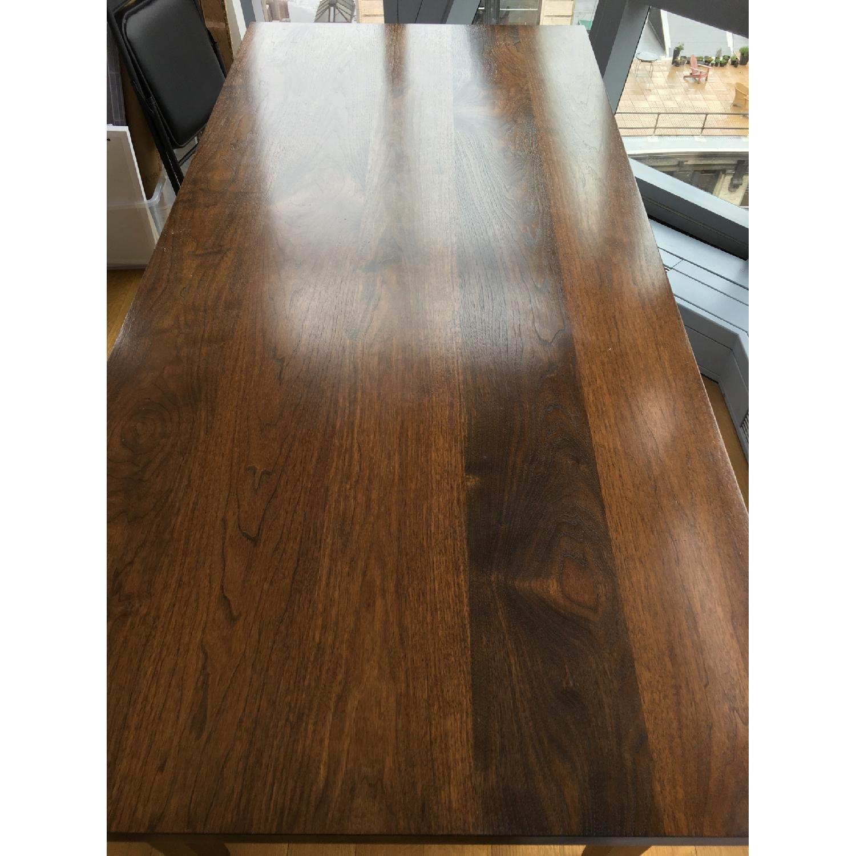 Custom Stephen Iino Solid American Black Walnut Dining Table w/ Bench - image-2