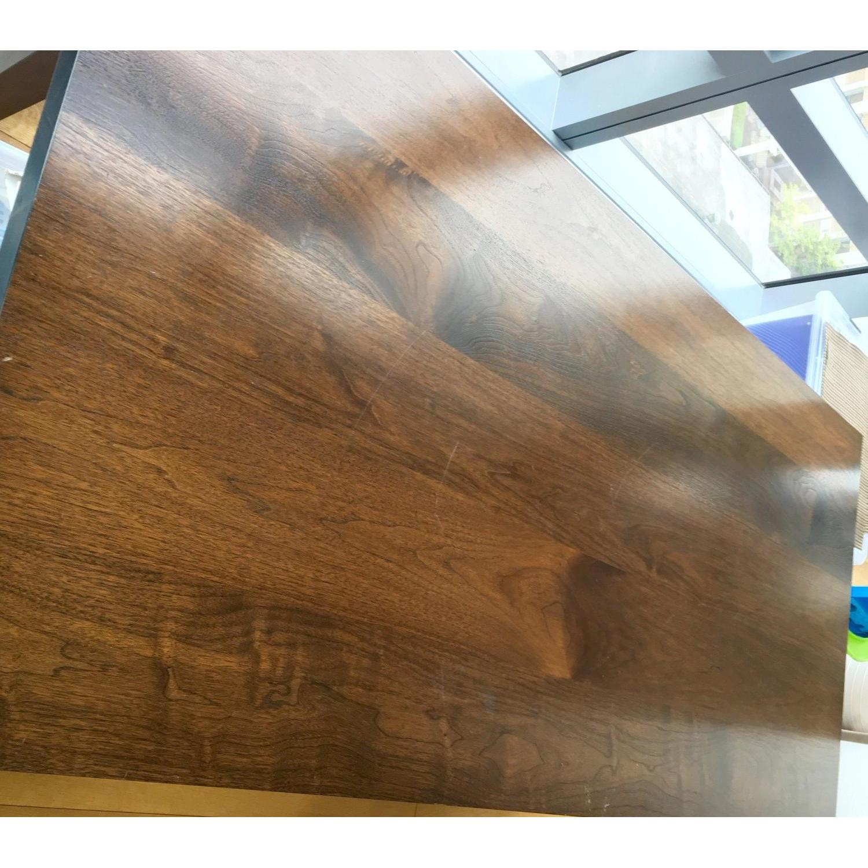 Custom Stephen Iino Solid American Black Walnut Dining Table w/ Bench - image-3