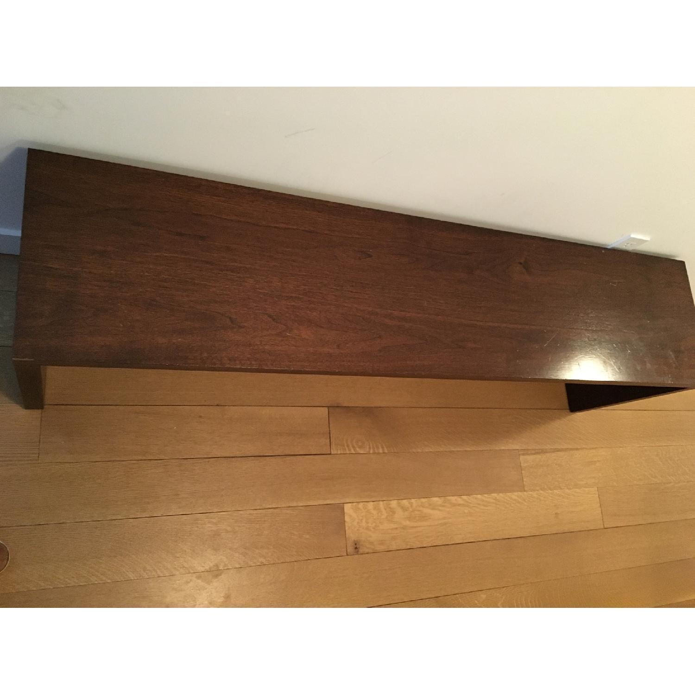 Custom Stephen Iino Solid American Black Walnut Dining Table w/ Bench - image-6