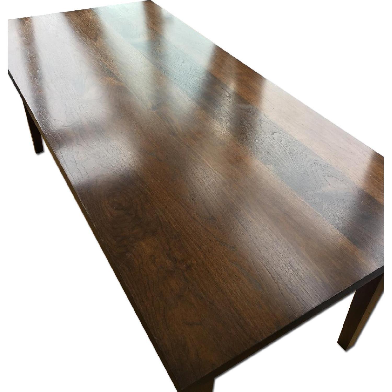 Custom Stephen Iino Solid American Black Walnut Dining Table w/ Bench - image-0