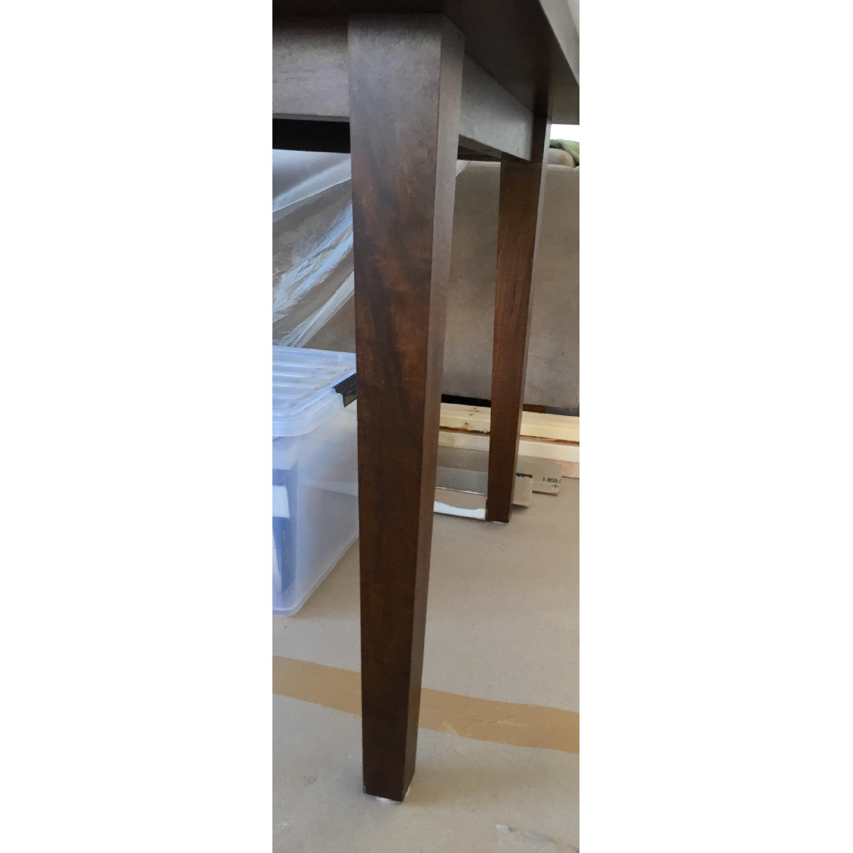 Custom Stephen Iino Solid American Black Walnut Dining Table w/ Bench - image-7