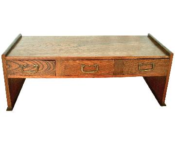 Antique Japanese Writing Desk/Coffee Table