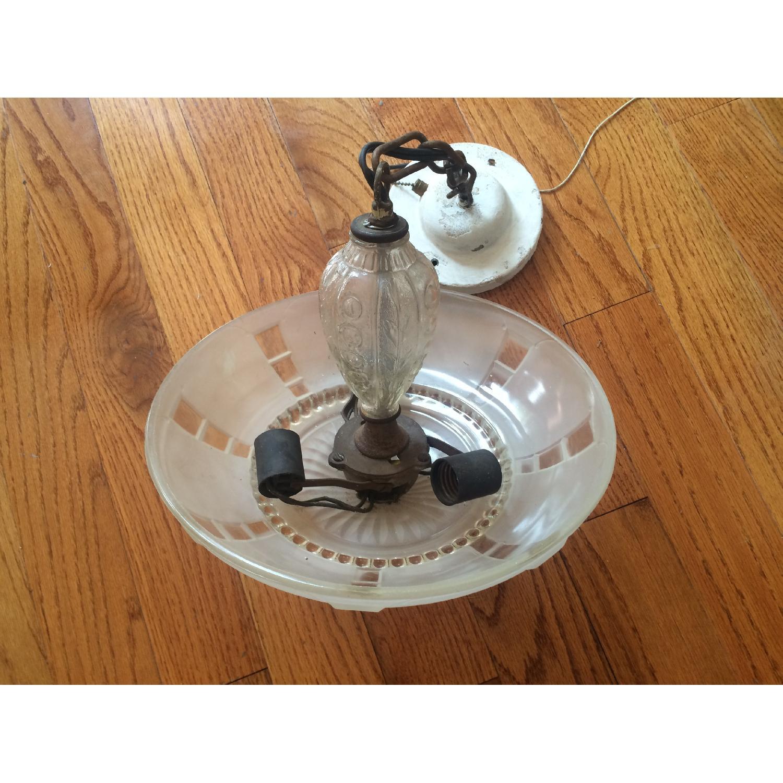 Antique 1940s Pendant Lamp - image-3