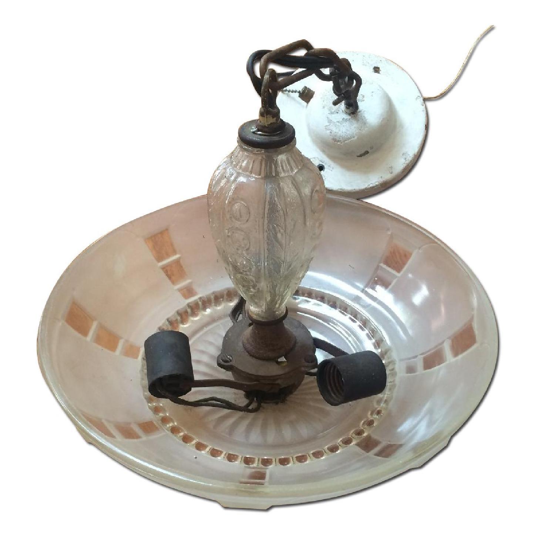 Antique 1940s Pendant Lamp - image-0