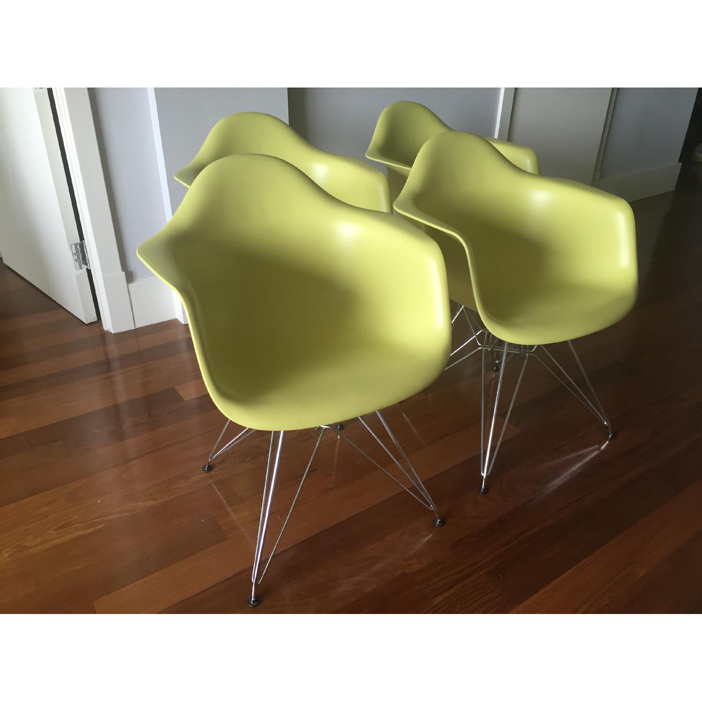 Eames Molded Plastic Eiffel Base Armchair - image-1