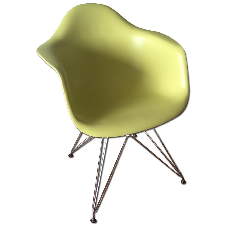 Eames Molded Plastic Eiffel Base Armchair - image-0