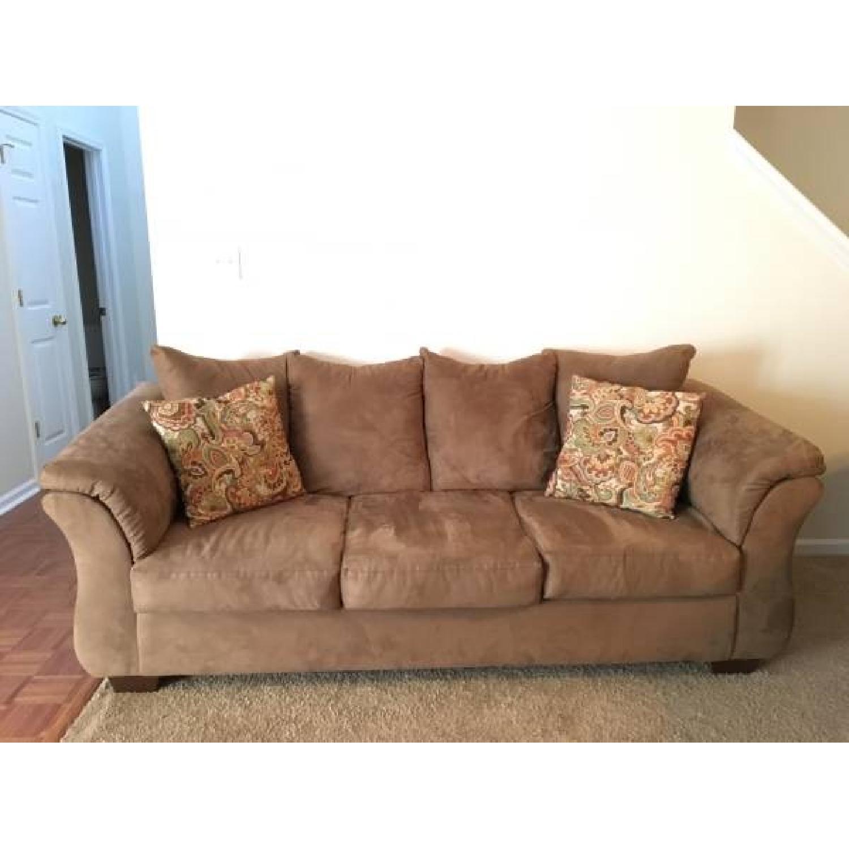 Ashleys Darcy Sofa w/ Matching Pillows - image-1