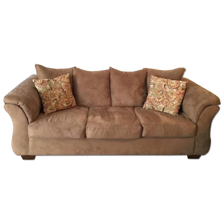 Ashleys Darcy Sofa w/ Matching Pillows - image-0