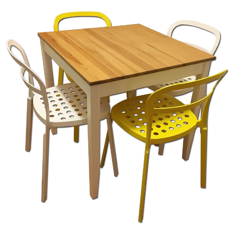 Ikea Lerhamn Dining Table w/ 4 Reidar Chairs - image-0
