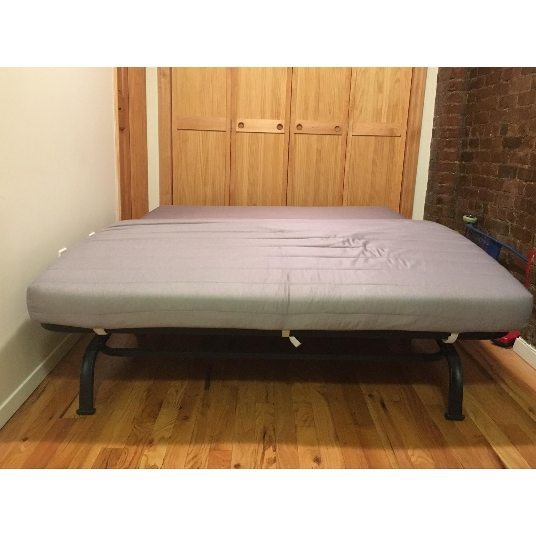 Ikea Lycksele Lovas Grey Sofa Bed - image-5