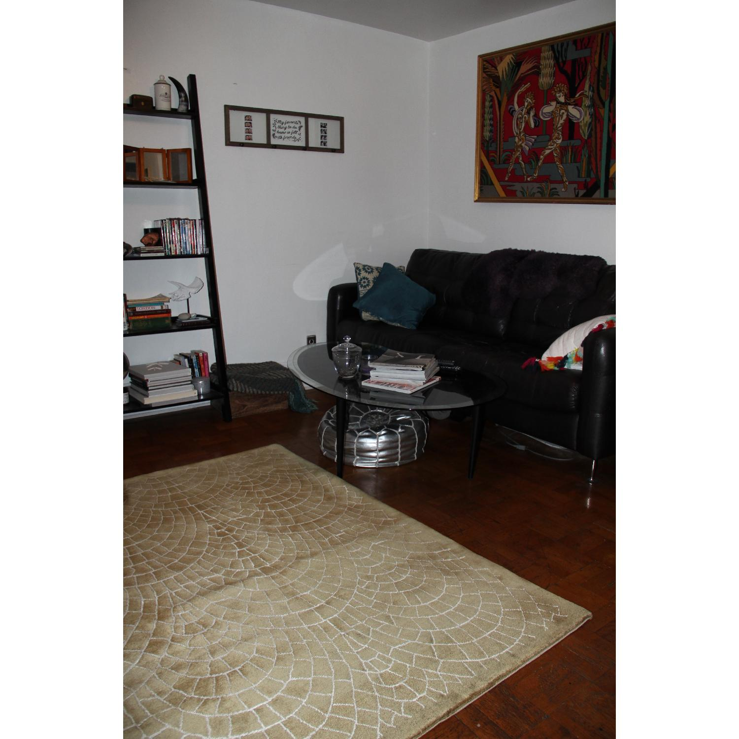 Contemporary Silk & Wool Indian Rug - image-2