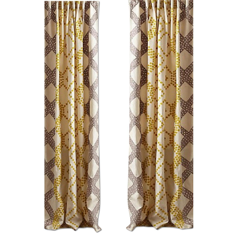 Anthropologie Ratio Curtains - image-0