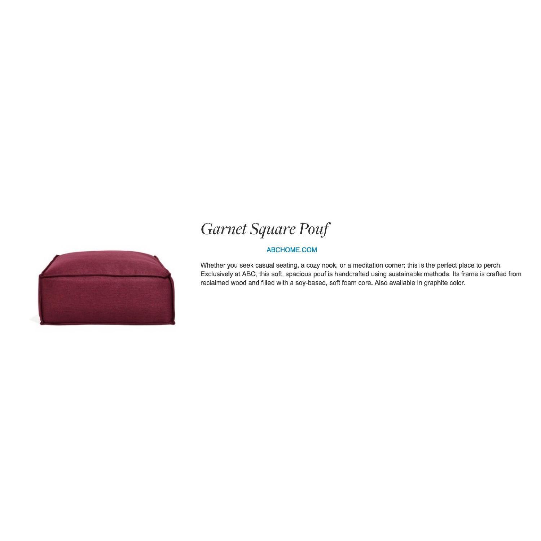 ABC Carpet and Home Garnet Pouf - image-2