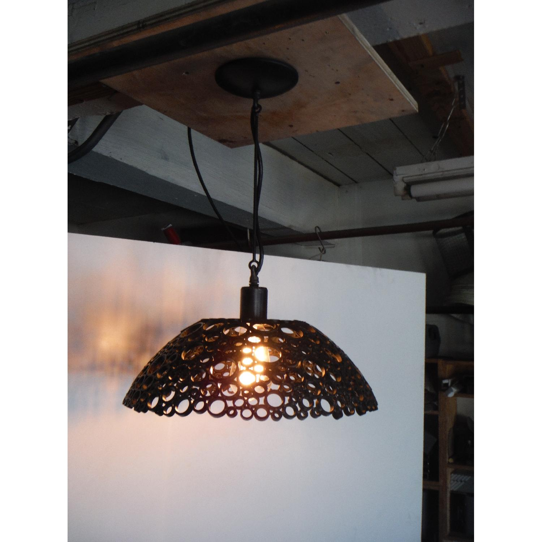 Oblik Studio Tiffany Steel Pendant Light - image-1