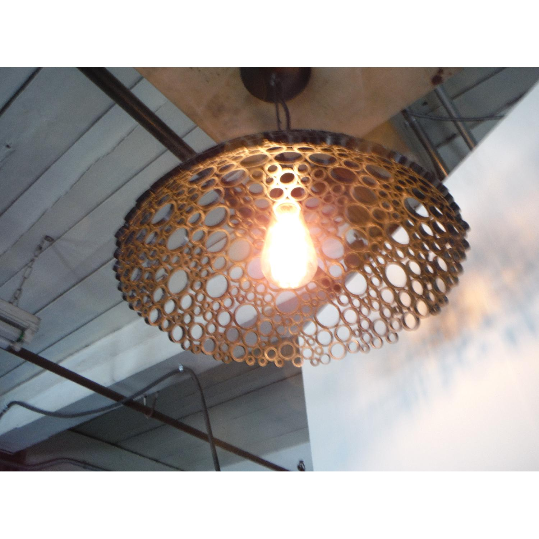 Oblik Studio Tiffany Steel Pendant Light - image-3