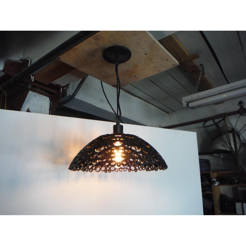 Oblik Studio Tiffany Steel Pendant Light - image-5