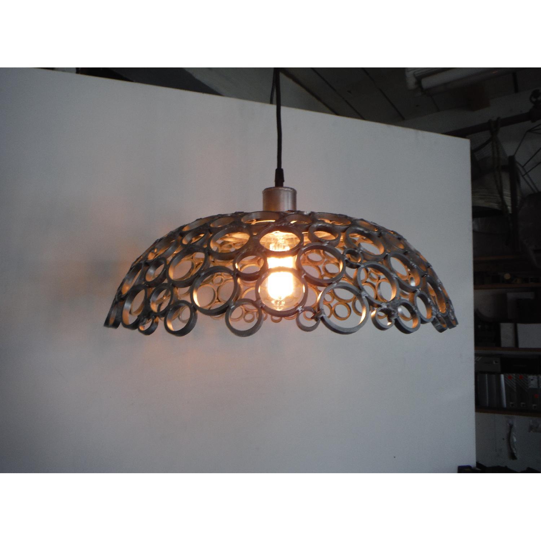 Oblik Studio Inc Tiffany Aluminum Ceiling Pendant - image-5
