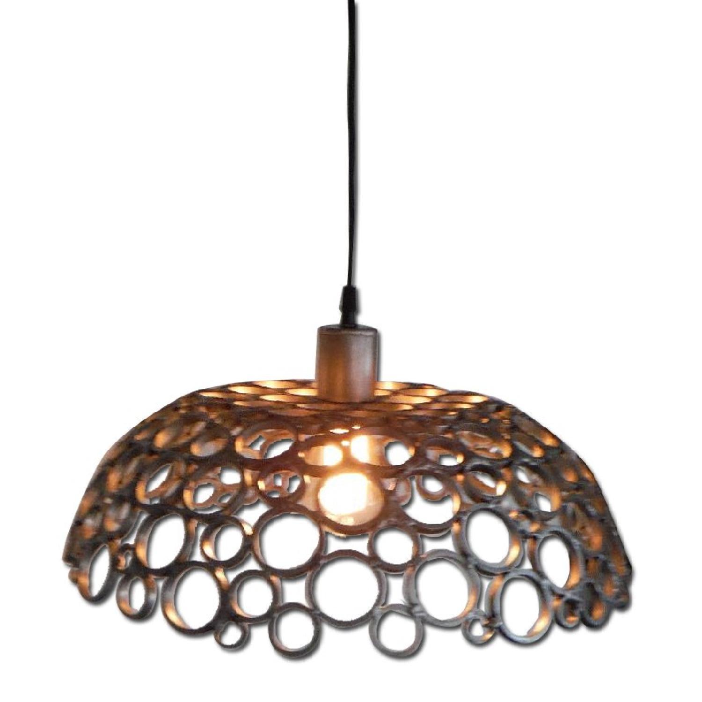 Oblik Studio Inc Tiffany Aluminum Ceiling Pendant - image-0