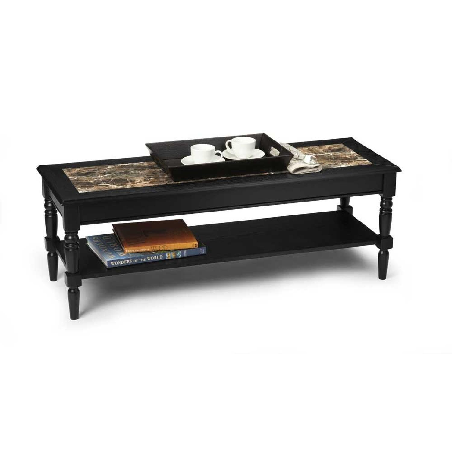 Convenience Concepts French Country Faux Marble Coffee Table - image-1