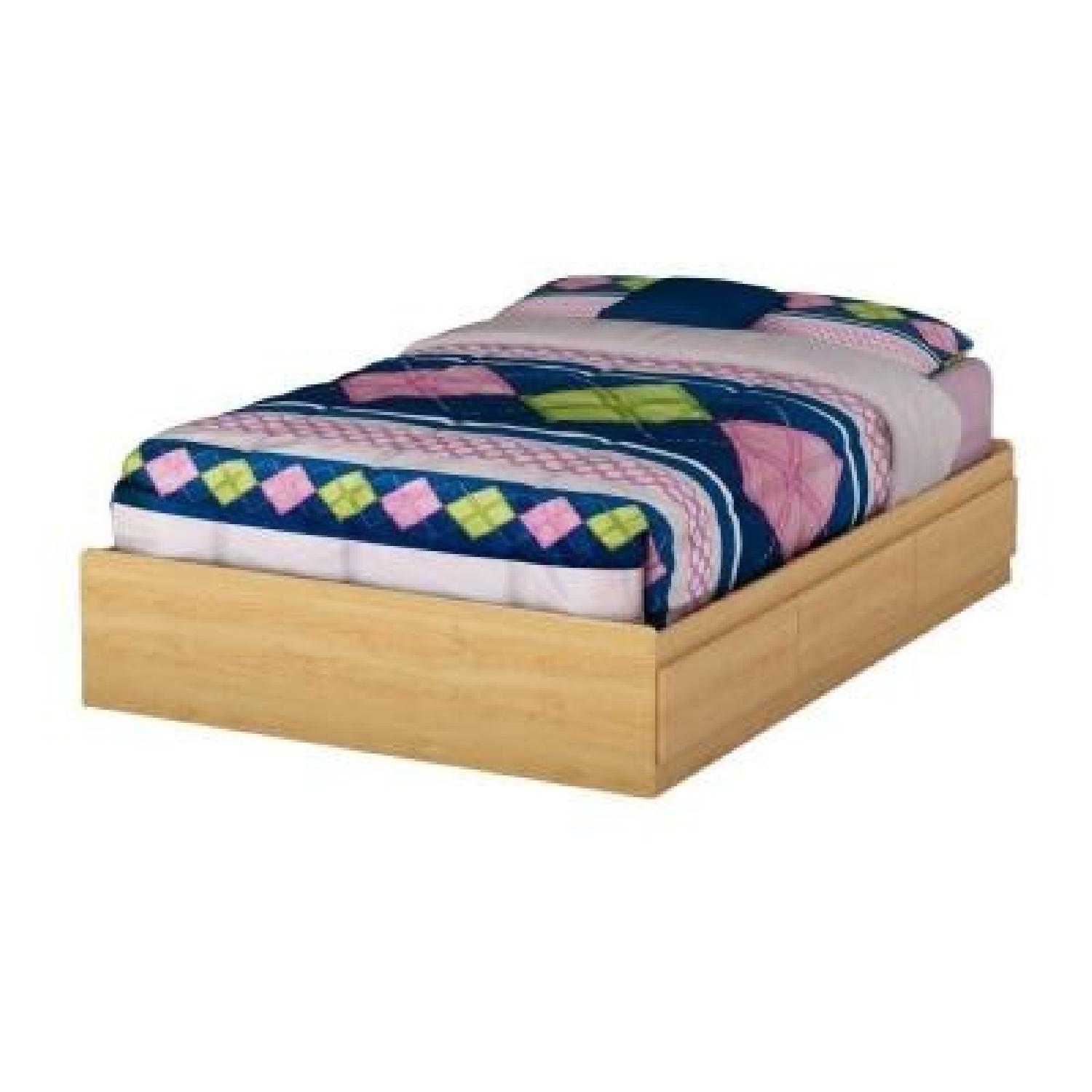 South Shore Furniture Full-Size Storage Bed in Natural Maple - image-0