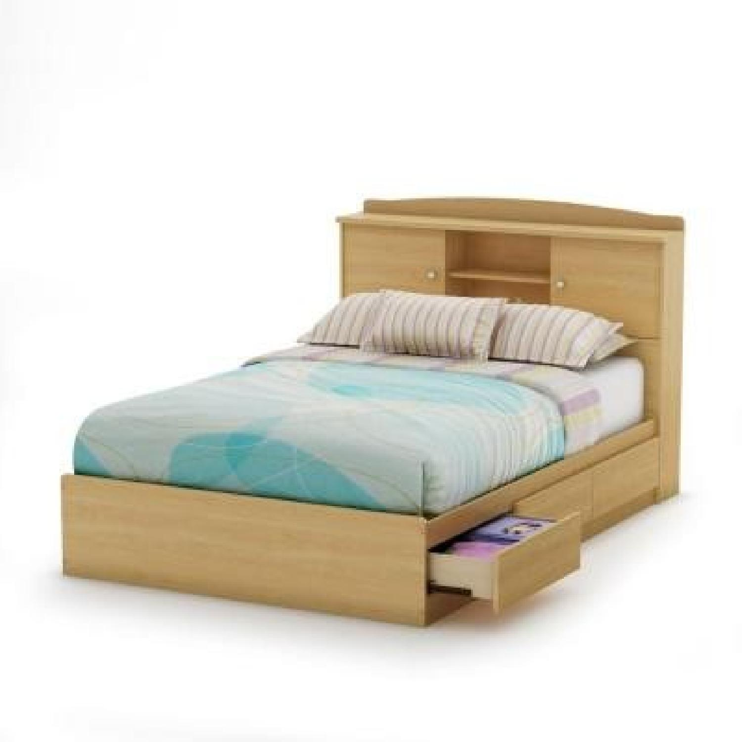 South Shore Furniture Full-Size Storage Bed in Natural Maple - image-1