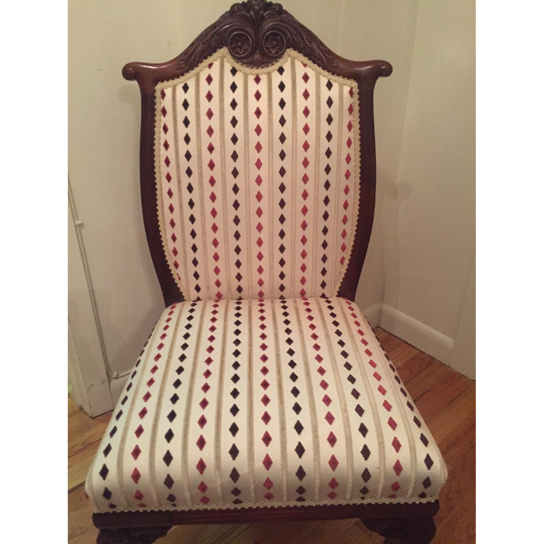 Antique Mahogany Slipper Chair - image-1
