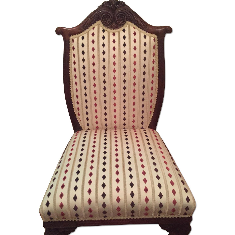 Antique Mahogany Slipper Chair - image-0