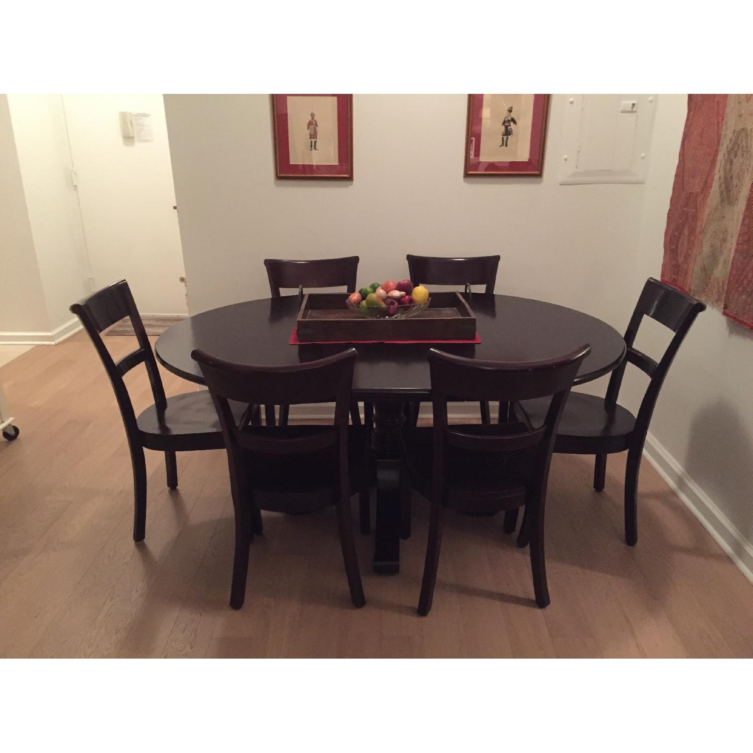 Crate & Barrel Dining Room Table w/ 6 Chairs - image-1