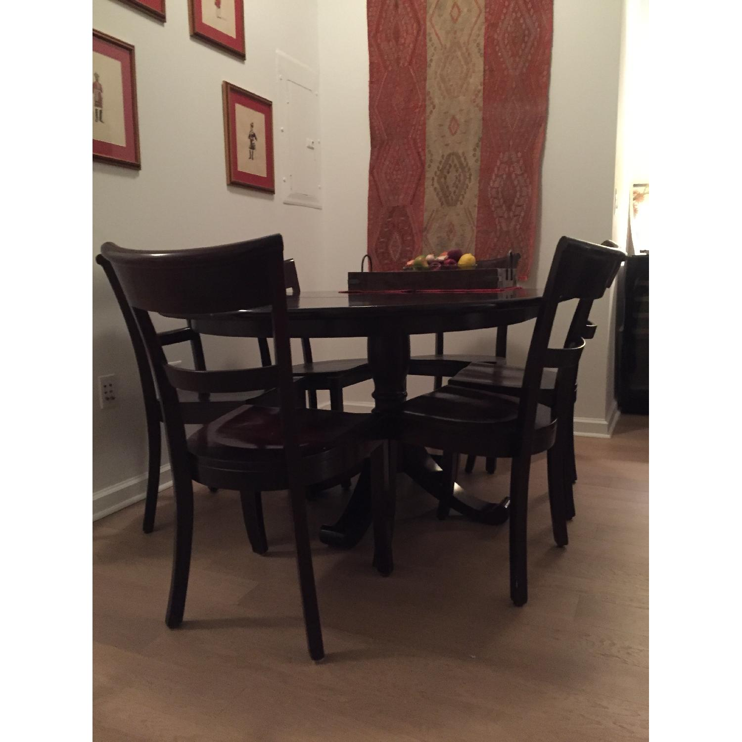 Crate & Barrel Dining Room Table w/ 6 Chairs - image-2