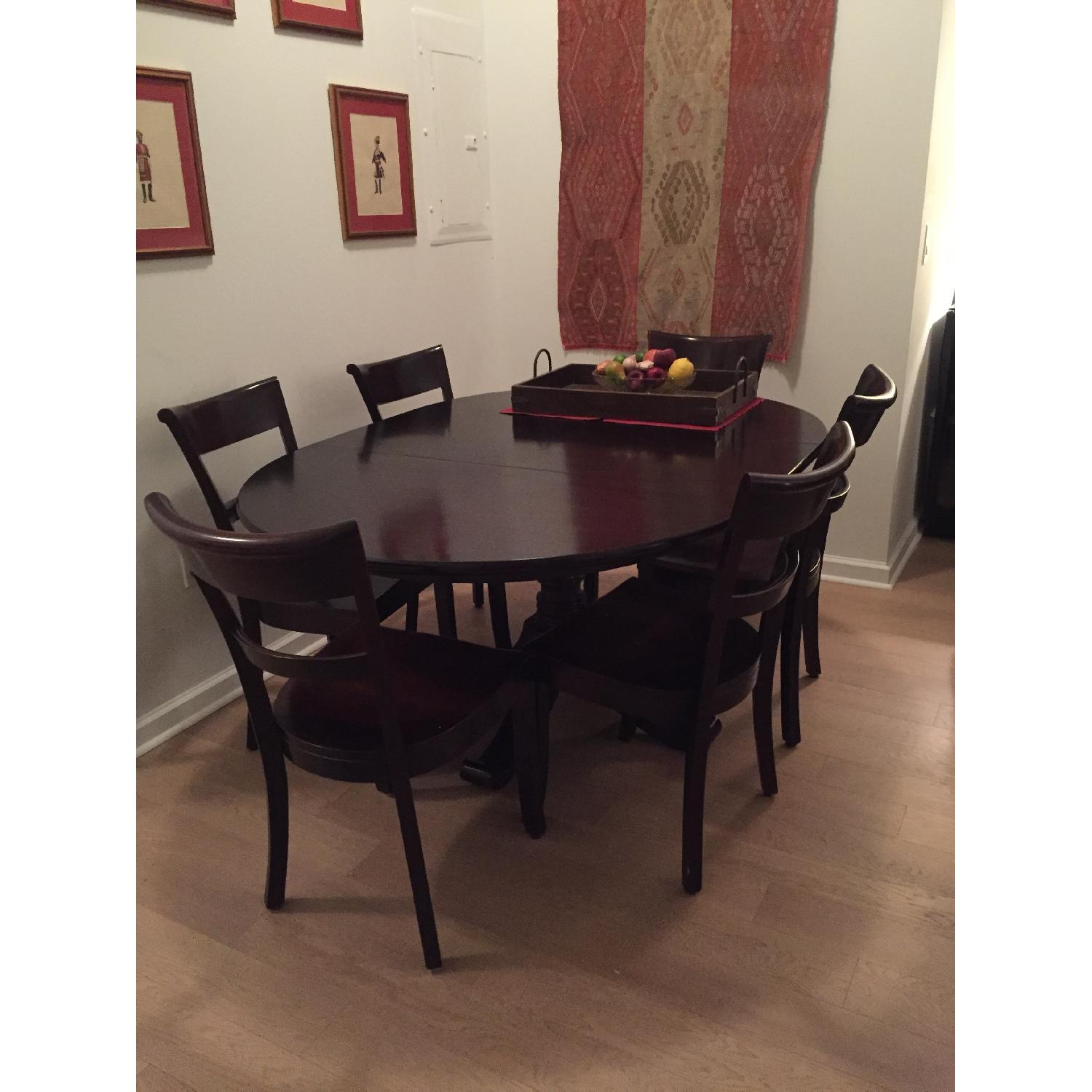 Crate & Barrel Dining Room Table w/ 6 Chairs - image-4