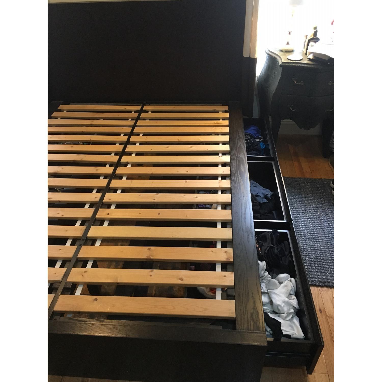 West Elm Queen Platform Storage Bed - image-2