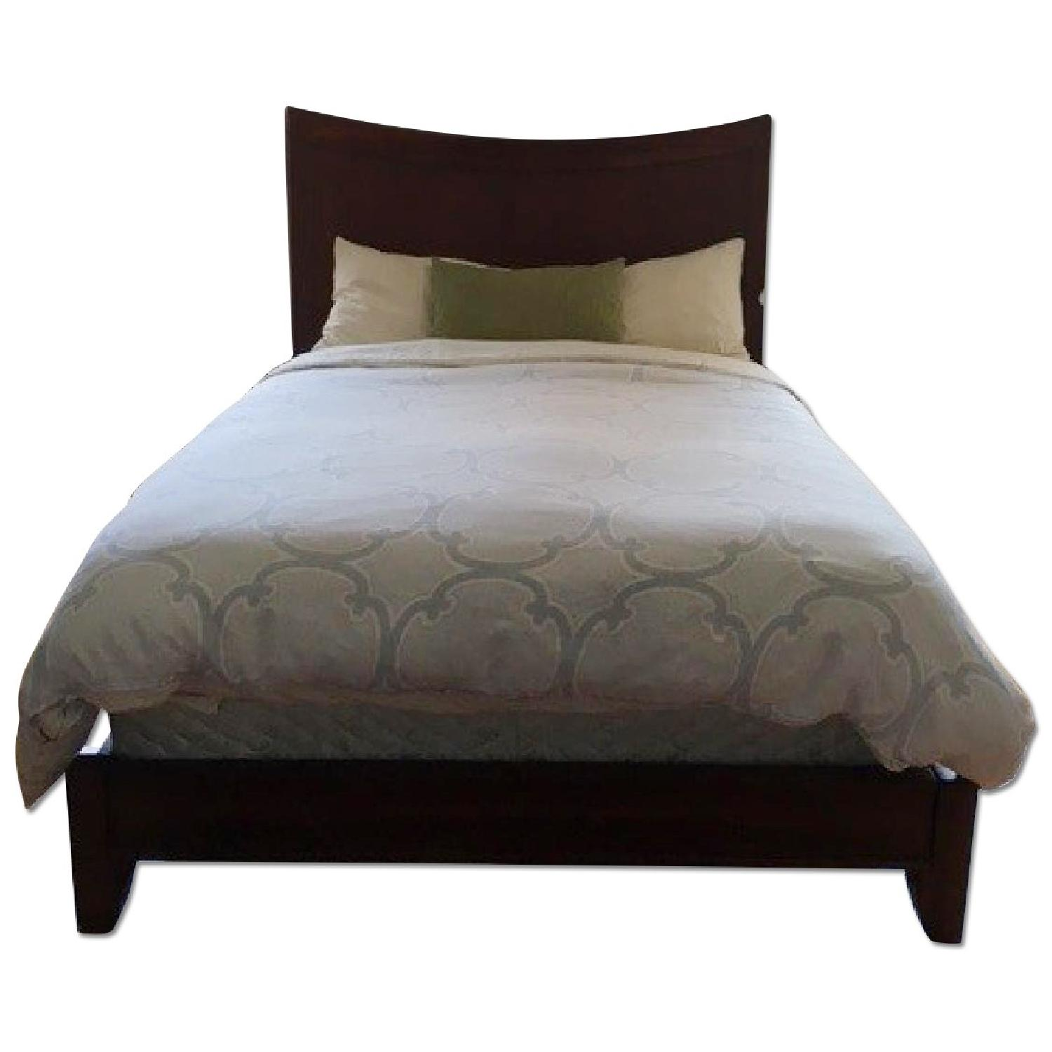 Queen Size Bed Frame w/ Headboard - image-0