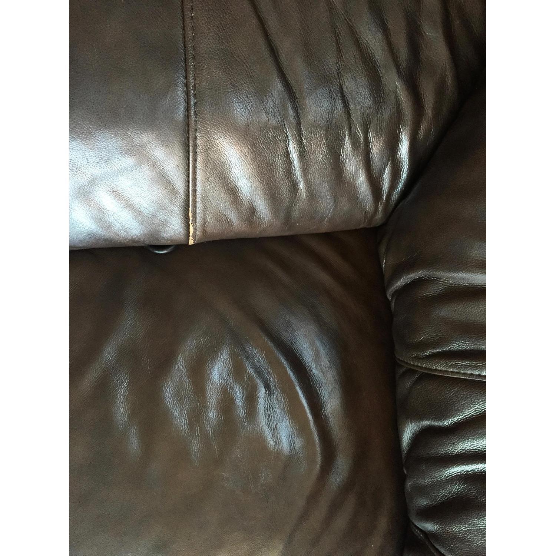 Lane Furniture Leather Reclining Sofa + Matching Recliner - image-4
