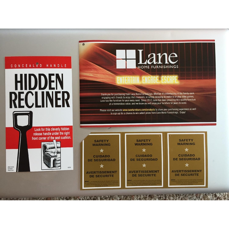 Lane Furniture Leather Reclining Sofa + Matching Recliner - image-8
