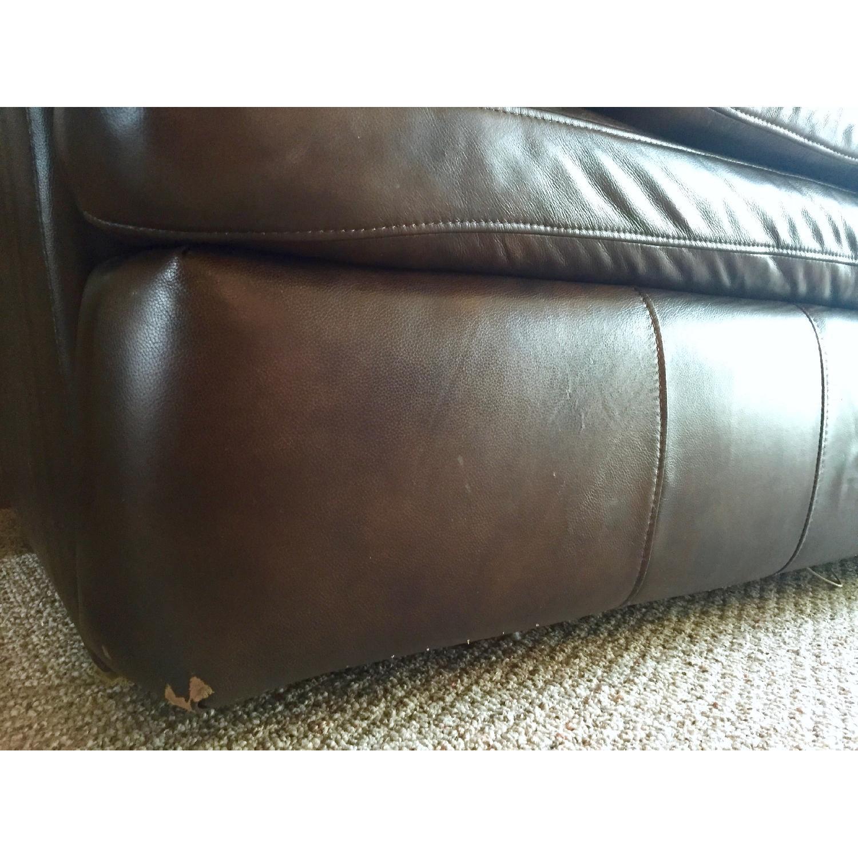 Lane Furniture Leather Reclining Sofa + Matching Recliner - image-9