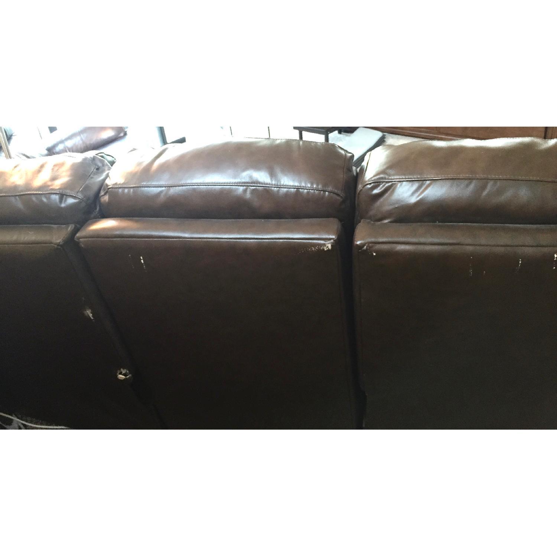 Lane Furniture Leather Reclining Sofa + Matching Recliner - image-10