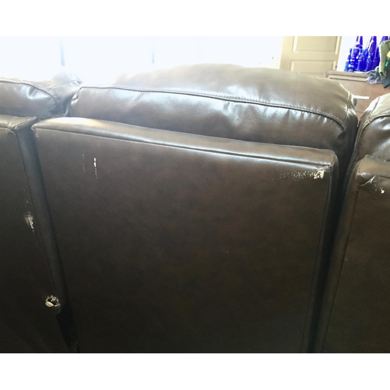 Lane Furniture Leather Reclining Sofa + Matching Recliner - image-11