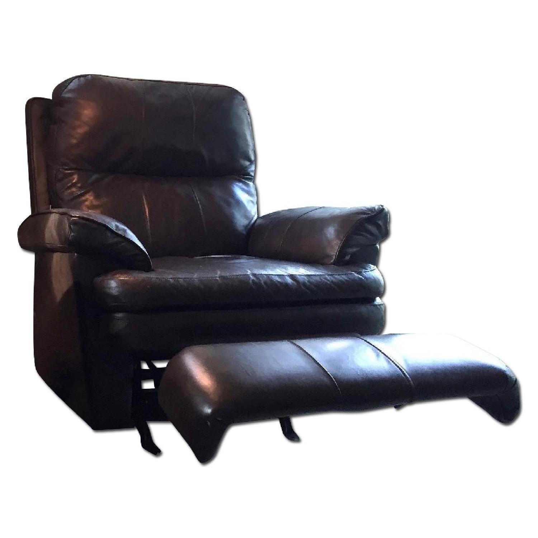 Lane Furniture Leather Reclining Sofa + Matching Recliner - image-12