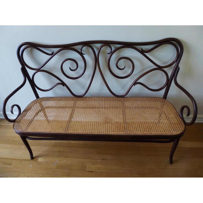 Bentwood Loveseat w/ Cane Seat - image-1