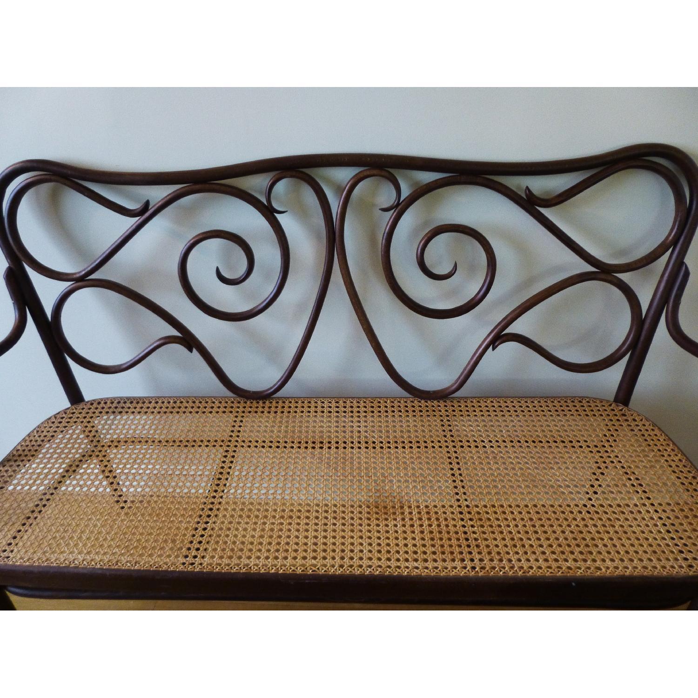 Bentwood Loveseat w/ Cane Seat - image-2