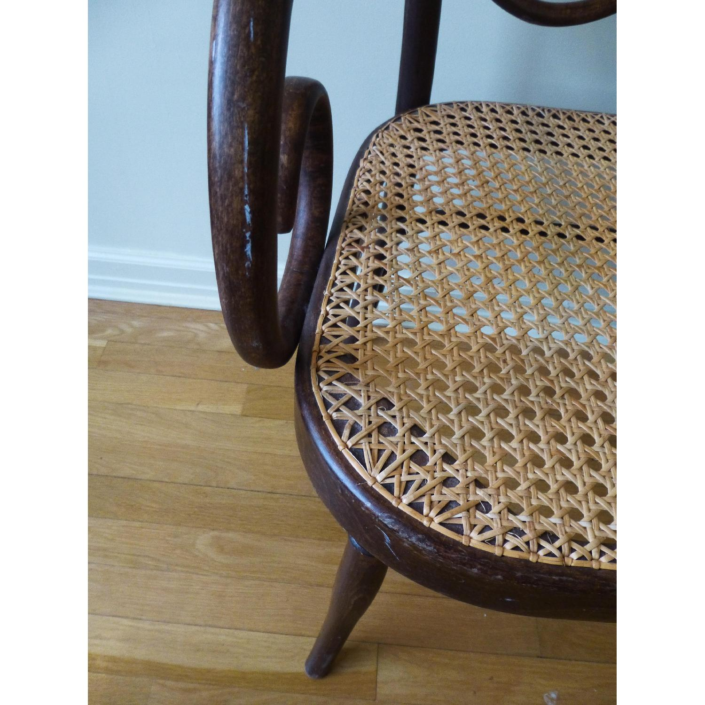 Bentwood Loveseat w/ Cane Seat - image-3