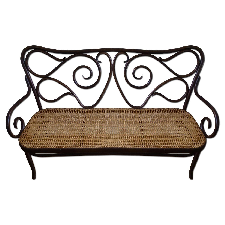Bentwood Loveseat w/ Cane Seat - image-0