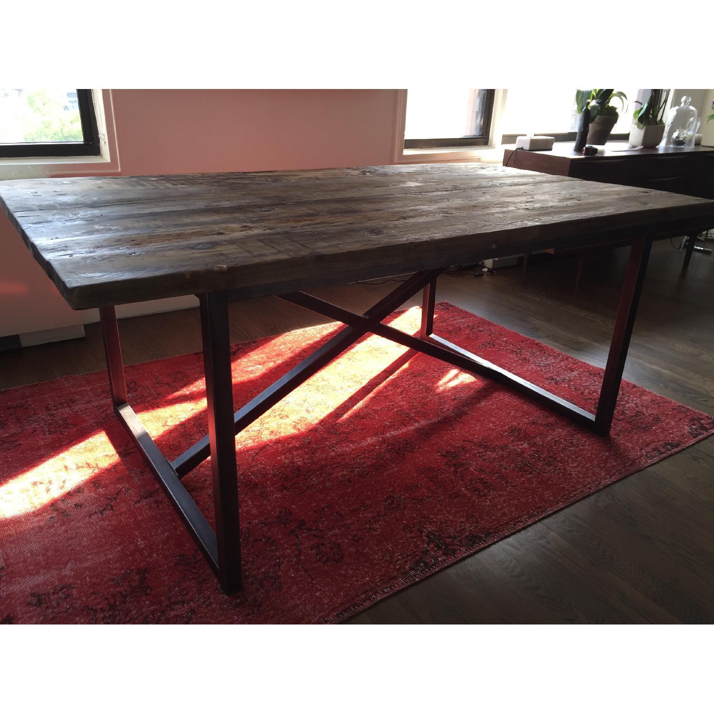Restoration Hardware Wood Dining Table - image-1