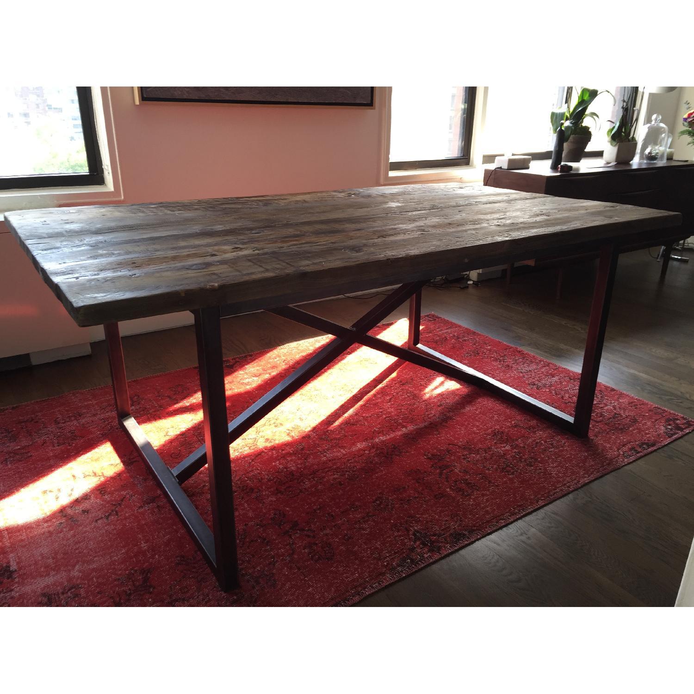 Restoration Hardware Wood Dining Table - image-2