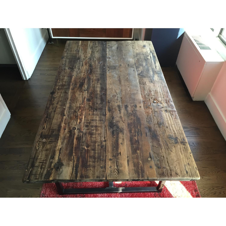 Restoration Hardware Wood Dining Table - image-5
